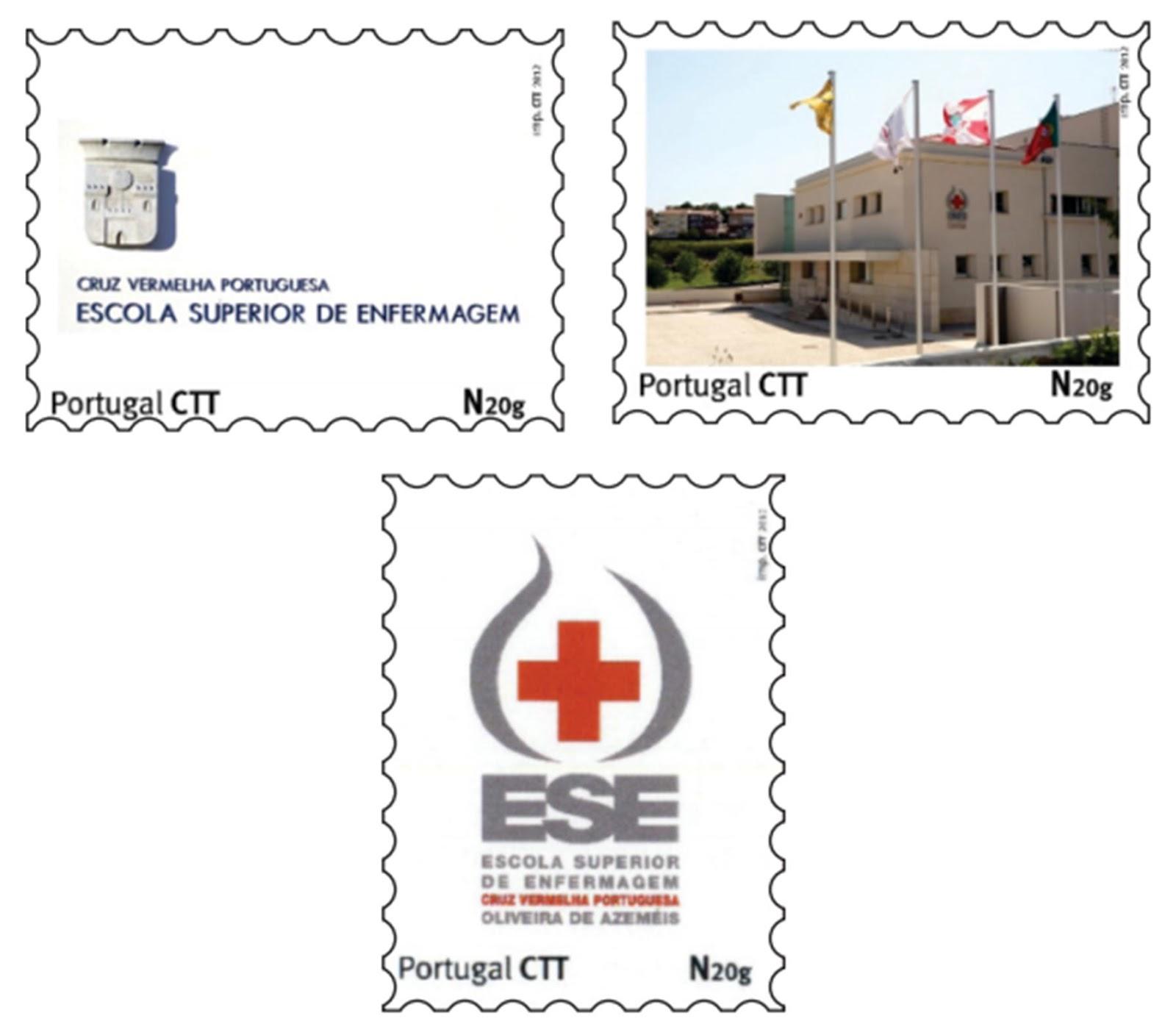 Para assinalar a data a supra referida escola solicitou ainda aos CTT a  emissão de 3 selos personalizados. 6fc349e9699f0