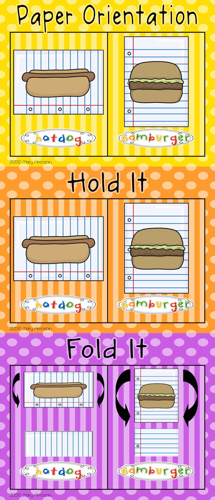 How To Fold A Paper Hot Dog Style