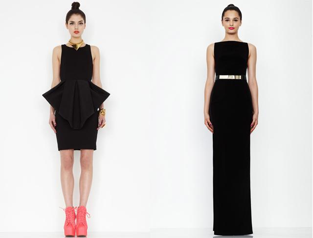 black, bold dresses