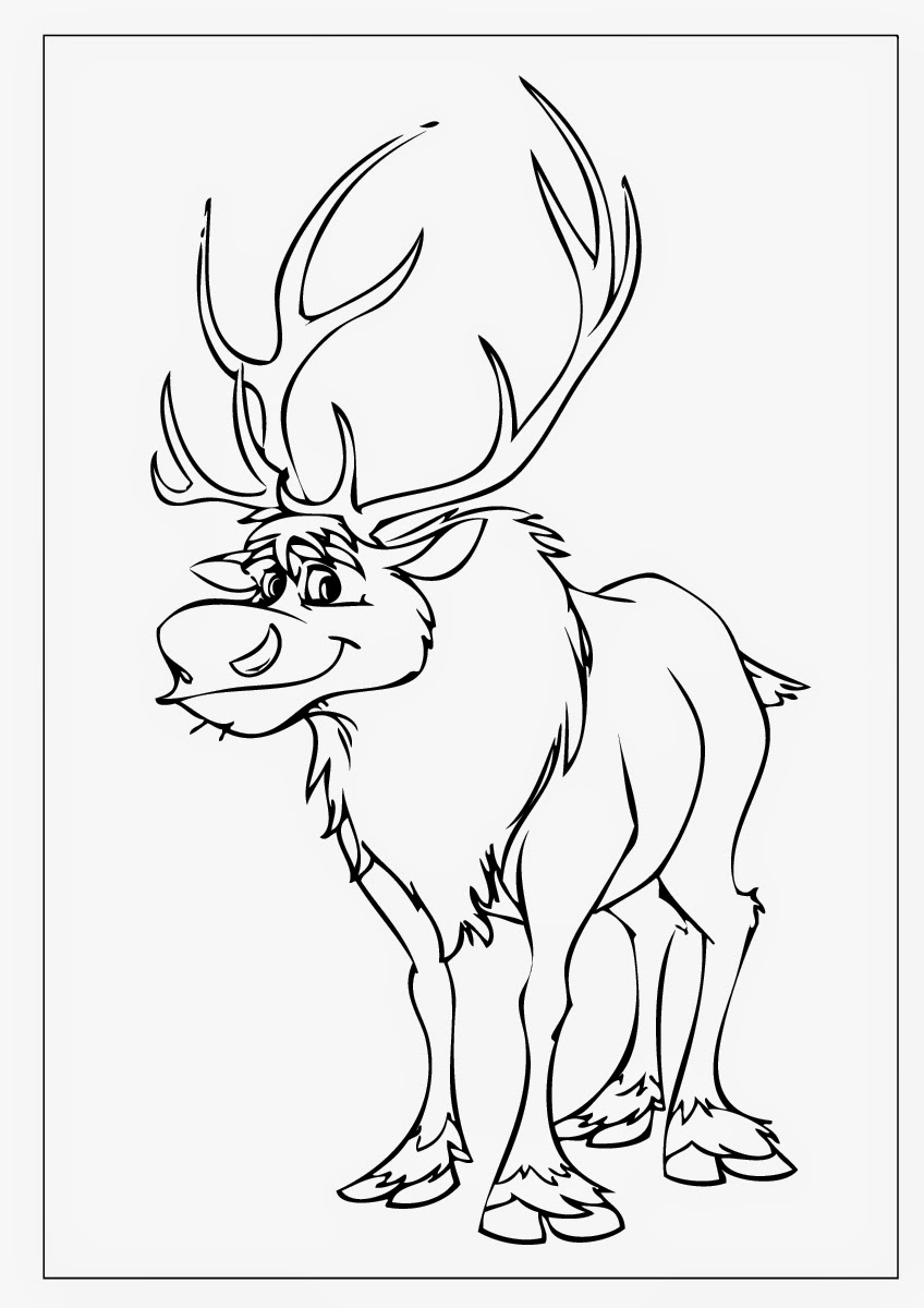 frozen coloring pages sven kristoff - photo#27