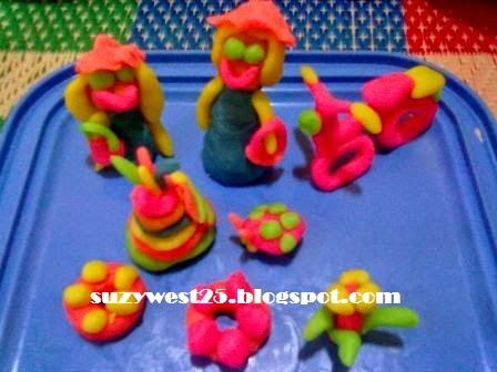 Bermain Bentuk Dengan Clay