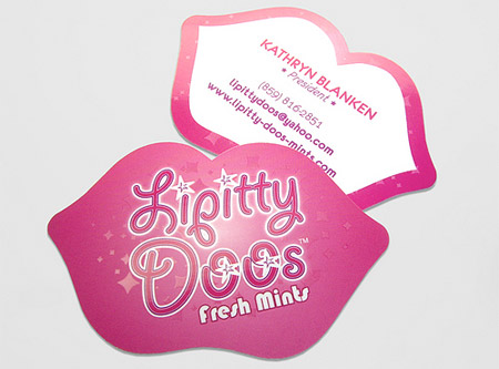 Dizine 24 creative die cut business cards creative die cut business card designed for lipitty doos fresh mints link reheart Choice Image