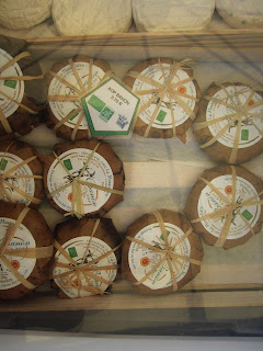 Banon cheese for sale in Forcalquier market