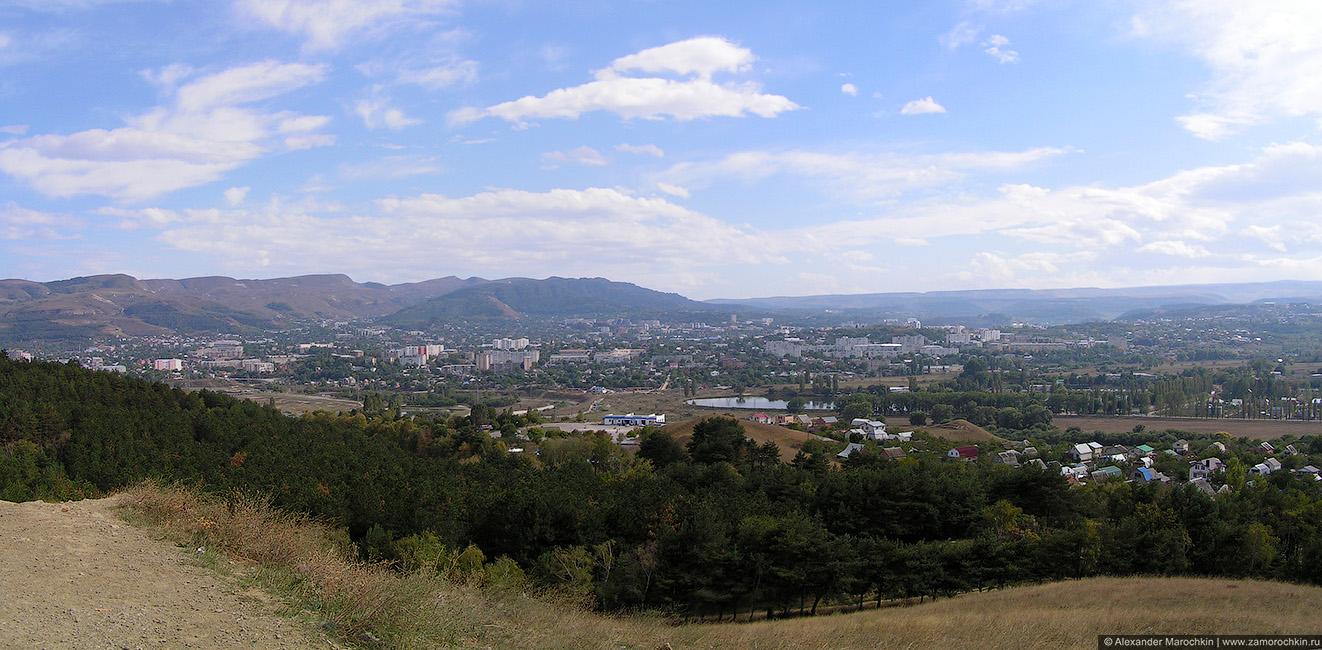 Панорама Кисловодска с горы Кольцо
