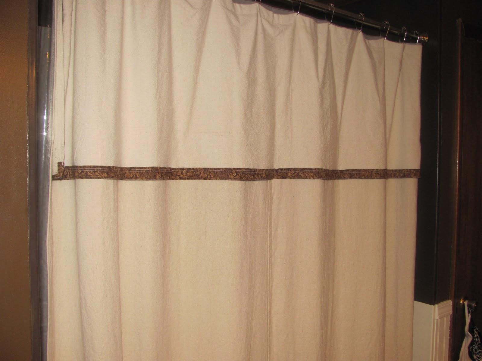 Inspiring Creativeness Drop Cloth Shower Curtain