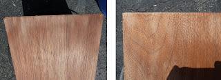 sanded walnut veneer