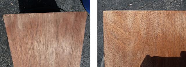 Ohm C2 cabinet  veneer after sanding restoration