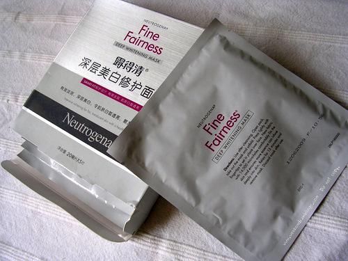 Neutrogena Fine Fairness Skin Deep Whitening Sheet Face Mask Reviews Ingredients