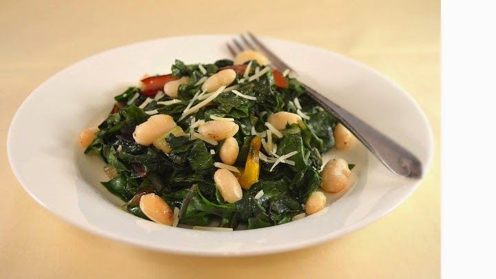 Sew French: Garlicky Greens & Beans