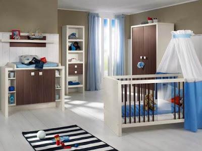 Minimalist Blue Kids Room Design Photos