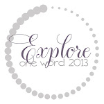 My One Word for 2013