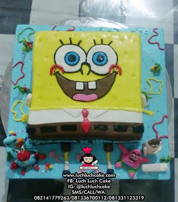 Kue Tart Spongebob 3D Birthday Cake