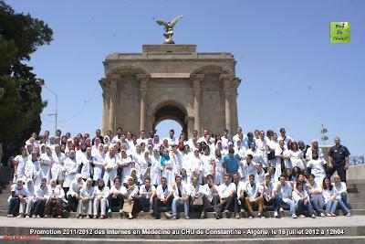 Photo N4: Promotion 2011/2012 des Internes en Médecine au CHU de Constantine - Algérie, le 16 juillet 2012