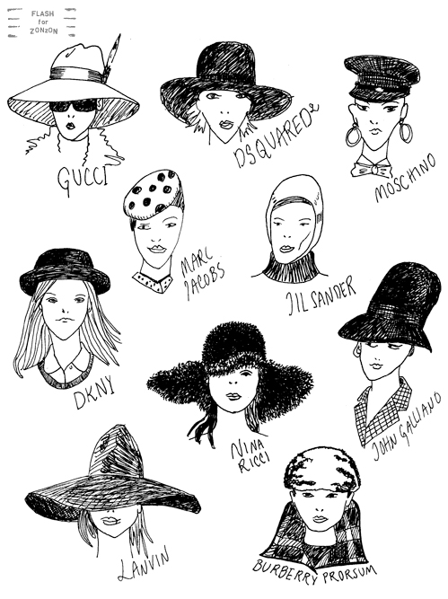 Selection of hats fw2011