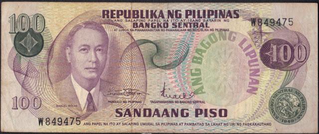 Filippine 100 piso 1985 P# 158
