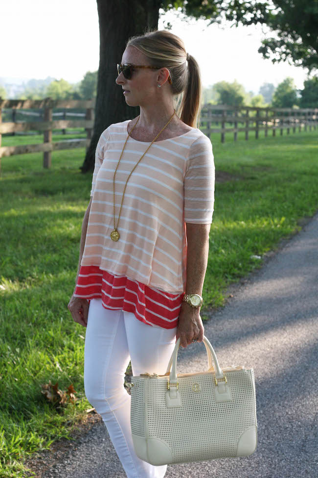elizabeth & james sunglasses, nordstrom earrings, julie vos necklace, anthropologie top