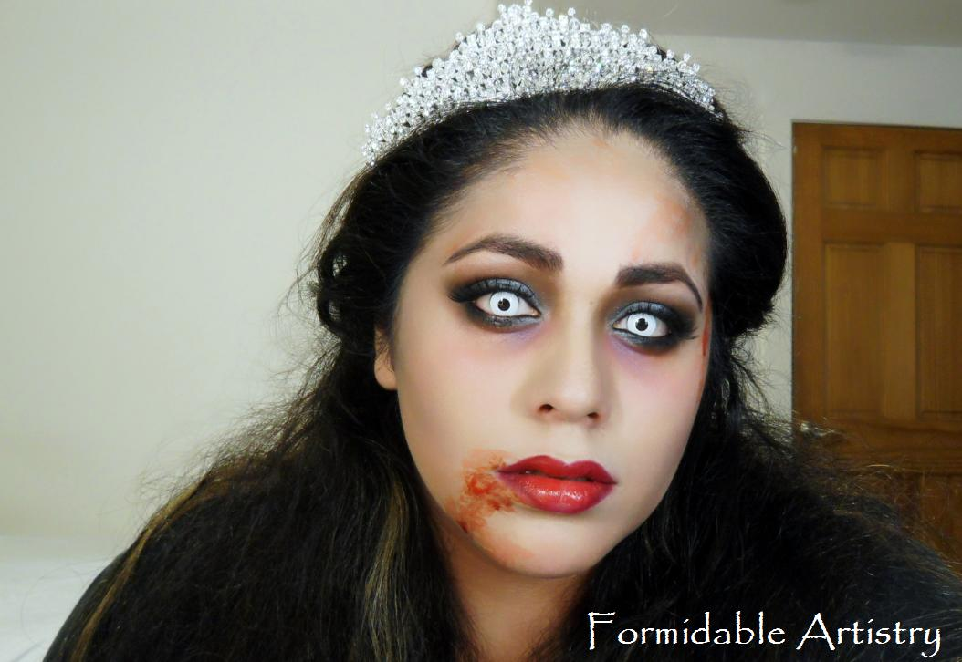 FormidableArtistry: Zombie Prom Queen/Bride Halloween Makeup Tutorial