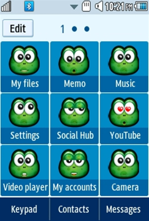 Other Cute, Green Smiley Samsung Corby 2 Theme 2 Menu