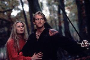 Robin Wright y Cary Elwes en La princesa prometida