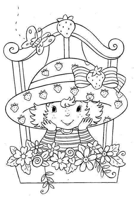 بنت صغيرة تطل من النافذة بين الزهور للتلوين