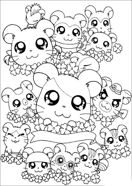 Anime Chibi Girl Coloring Pages Food