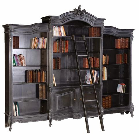 ornate noir book case