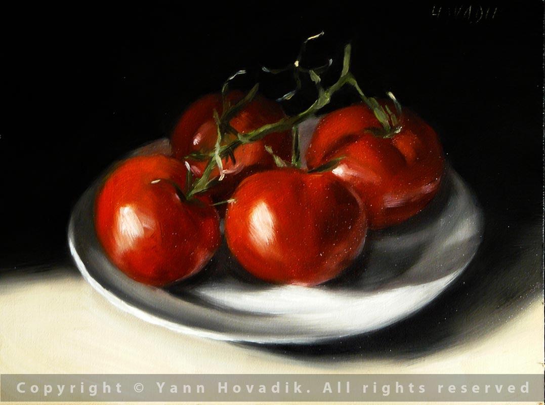 peindre des tomates yann hovadik 39 s fine art