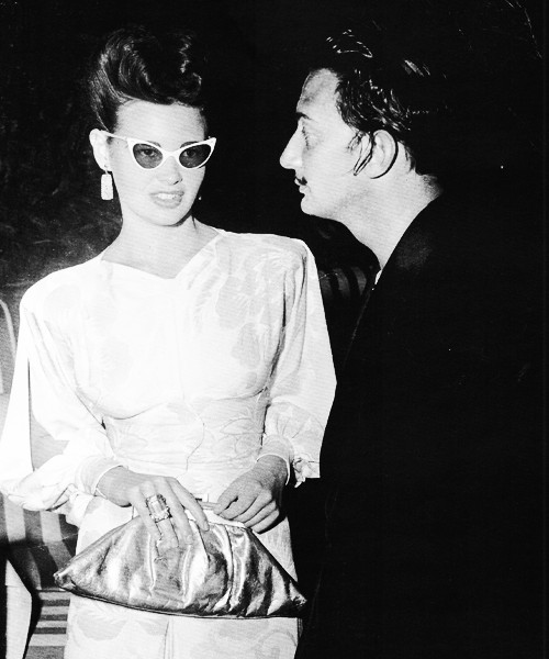 Gloria Vanderbilt and Salvador Dali