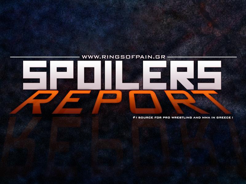 WWE *SPOILERS* Report 1/10/2014