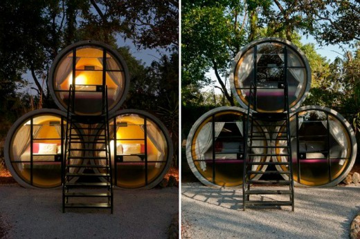 Unusual Tubo Hotel in Tepoztlan, Mexico