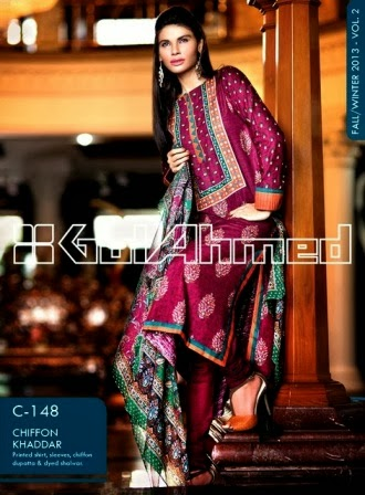 Gul Ahmed Fancy Khaddar Dress
