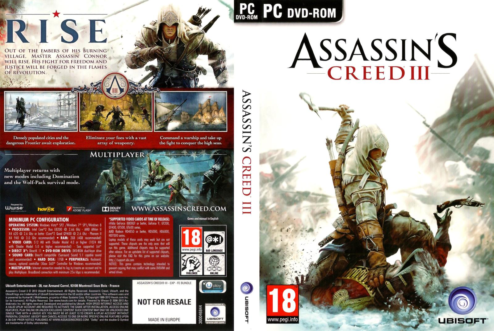 Capa Assassins Creed III PC