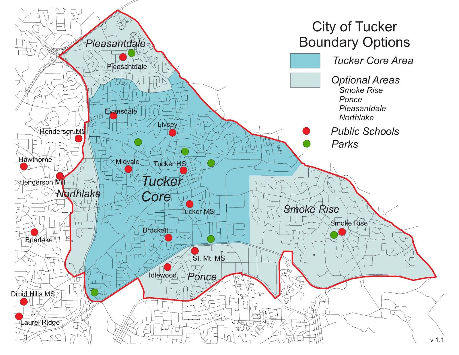 The City Of Tucker Initiative The Proposed New City Of Tucker - Georgia on the us map