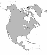 Blank map of North America without regional borders. at 2:31 AM (blank map north america)