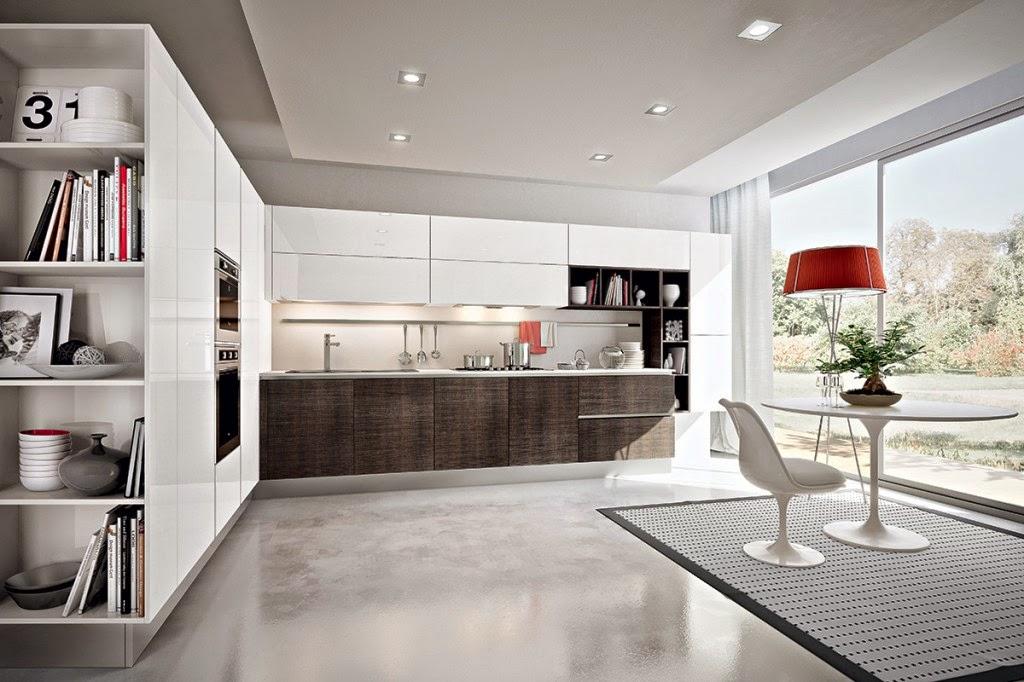 los materiales pueden ser de cualquier tipo laminados lacados cristal o chapas de madera y utilizar un solo material para todo el mobiliario o incluso
