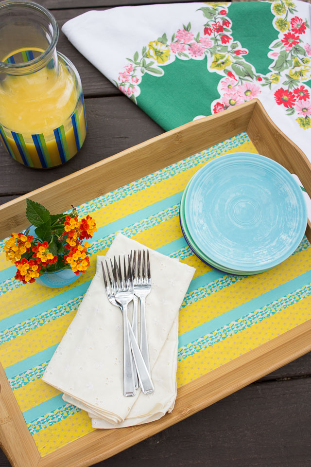 Washi tape decorated tray 1