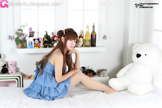 10 Ryu Ji Hye in Blue-very cute asian girl-girlcute4u.blogspot.com