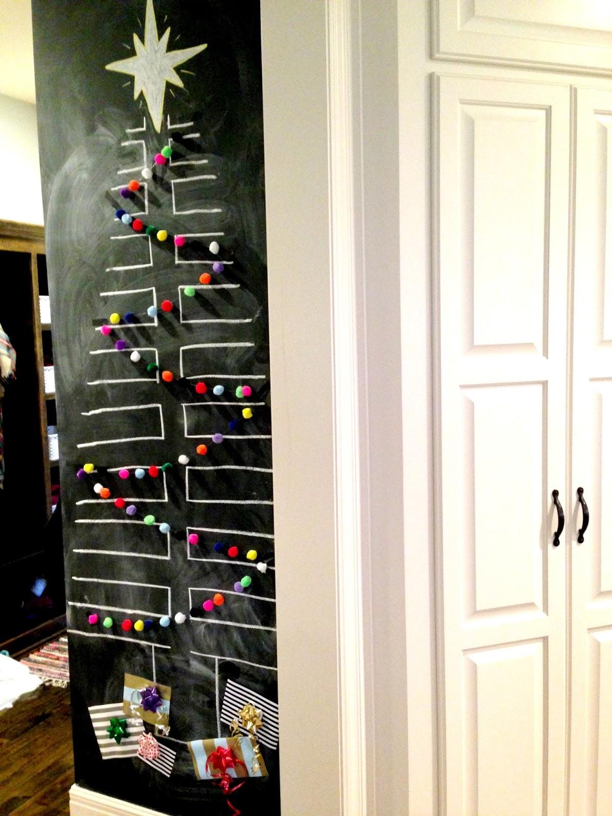Life Love Larson: Chalkboard Tree with Pom Garland