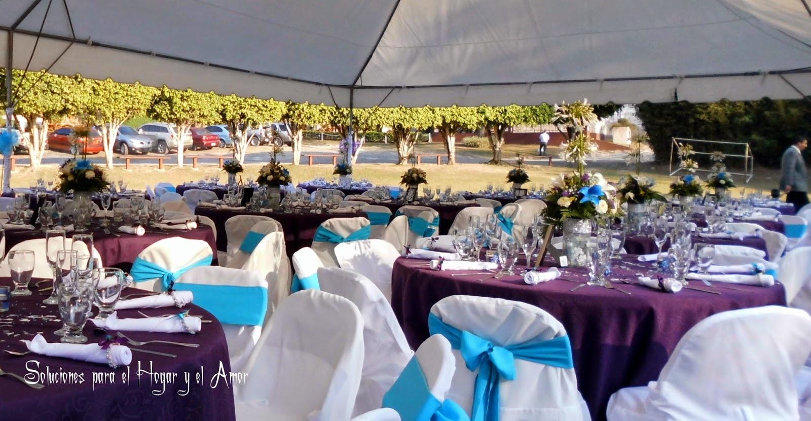 Mesas de recepción de boda, decoración