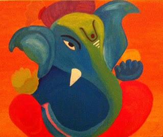 Blue Ekdant Ganpati