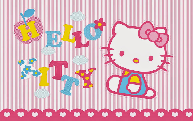 20909-Pink Background Hello Kitty HD Wallpaperz