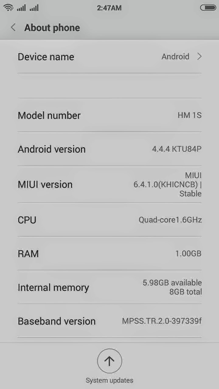 Custom ROM Unofficial MIUI 6 for Xiaomi Redmi 1s