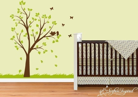 I Heart Pears: Tree wall art and decals in nurseries