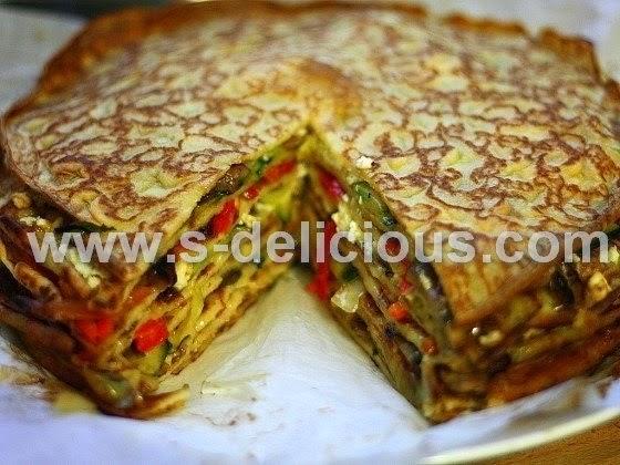 кабачково-сырный тортик с мясом рецепт с фото