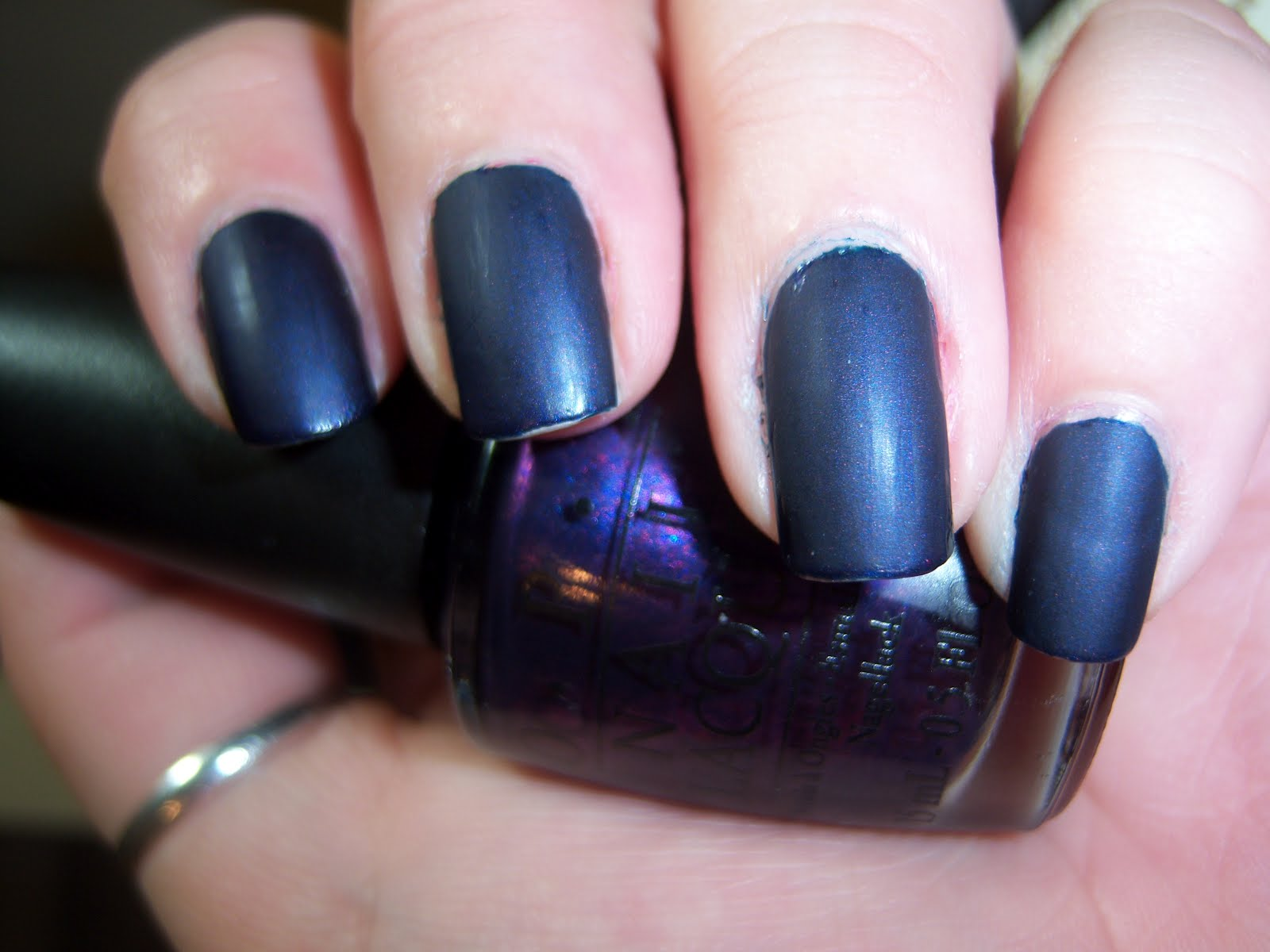 OPI Russian Navy & Essie Matte About You | Ashley Malice\'s Wonderland