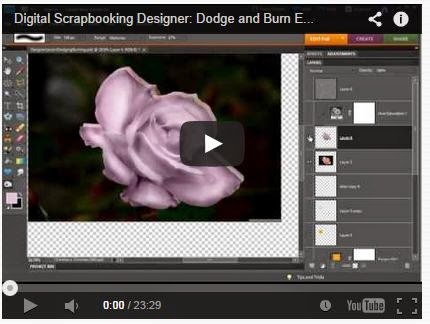 Dodging and Burning Digital Scrapbooking Elements