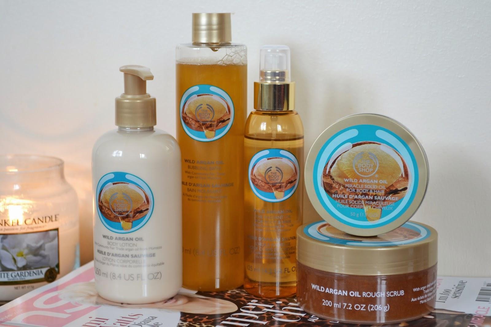 The Body Shop Moroccan Argan Oil Range - Aspiring Londoner