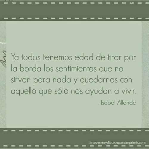 Imagen y frase de Isabel Allende