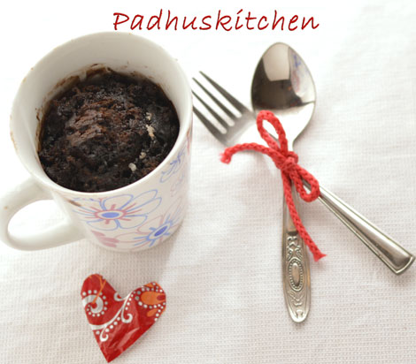 eggless steamed chocolate mug cake