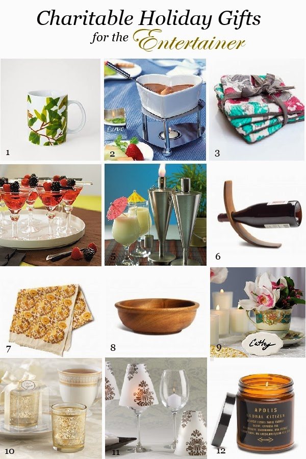 Wedding Gift List Charity : Charitable Holiday Gifts for the Entertainer Things Festive Weddings ...